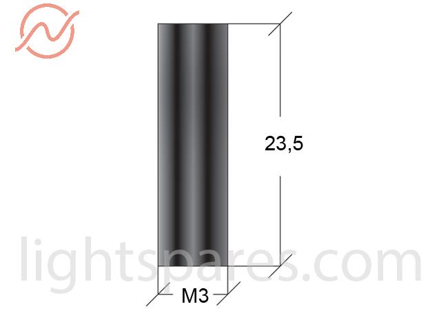 Martin - M3x23,5 stand off f7/f7 black
