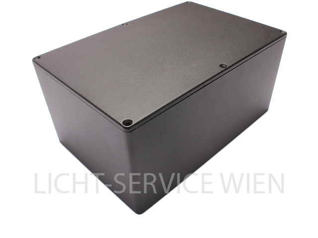 Alu-Druckguss Gehäuse 146x222x105 IP54 alu schwarz